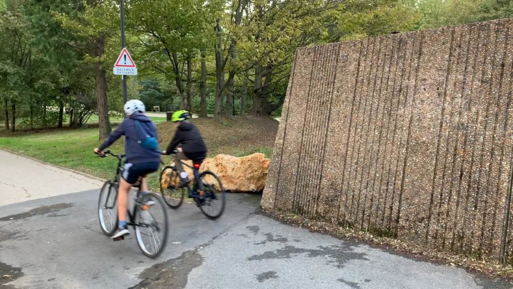 Coulée verte Sceaux après les modifications - mise en situation avec des cyclistes