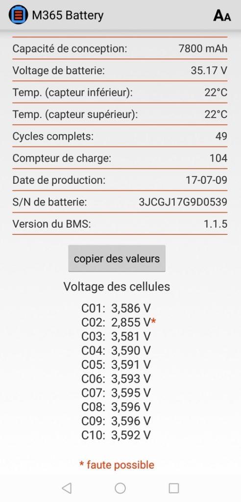 amasele move xiaomi m365 casse première batterie état