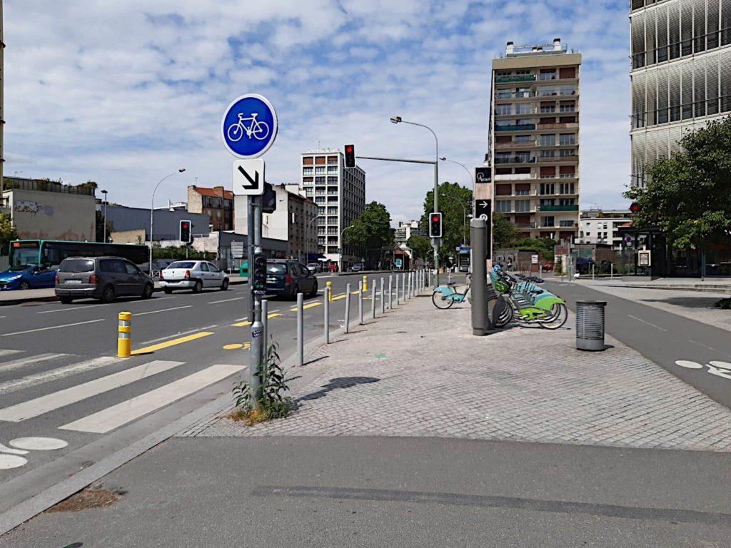 amasele move piste cyclable temporaire N20 Arcueil