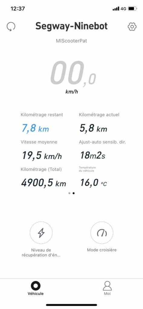 amasele move compteur 4900km xiaomi m365