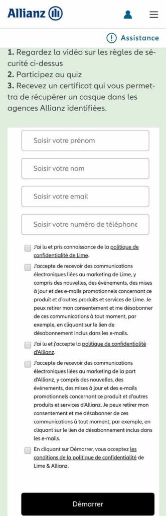 amaselemove lime allianz certificat unboxing bern operation ridesmart ridesafe participationauquizz