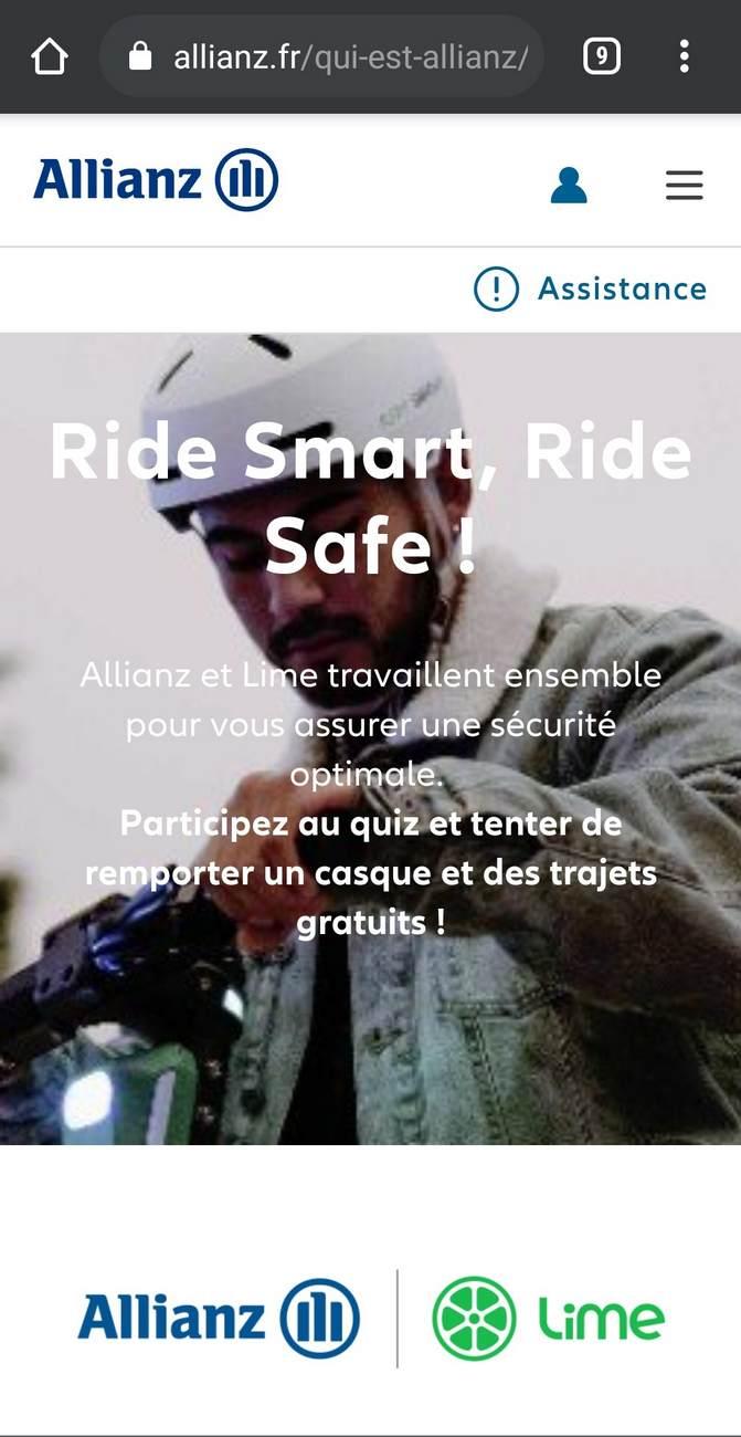 amaselemove lime allianz certificat unboxing bern operation ridesmart ridesafe